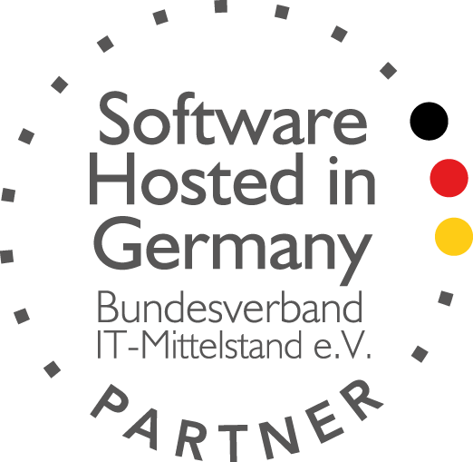 Software hosted in Germany Logo