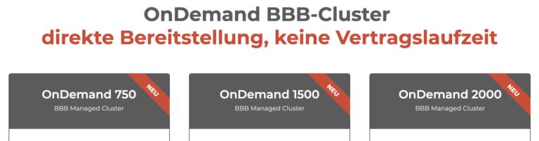 BBB OnDemand Cluster