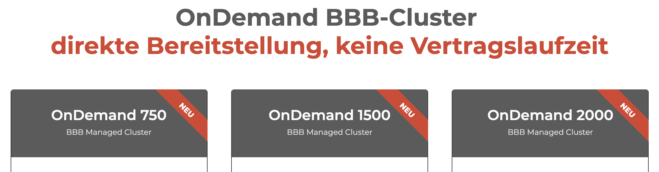 BBB OnDemand Cluster